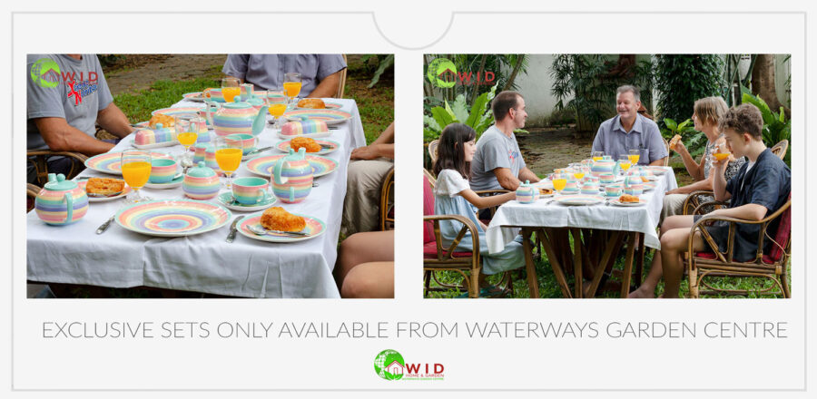 Dinner and tableware ceramic sets in exclusive designs