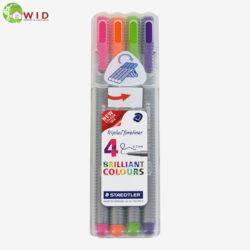 4 Fineliner Coloured Pens