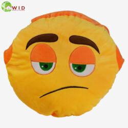 GRUMPY FACE EMOJI PILLOW