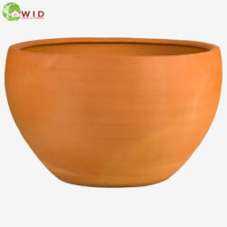 Large garden bowl made from terra-cotta