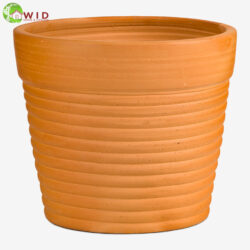 Large terra-cotta garden pot. UK