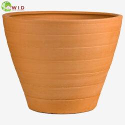 Large terra-cotta garden pots. UK