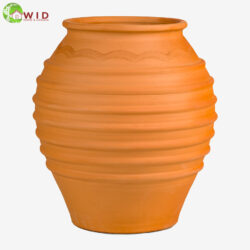 Large terra-cotta garden vase, Terra-cotta. UK