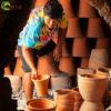Local kiln for firing handmade terra-cotta pots