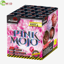fireworks multi shot 25 shots Pink mojo uk