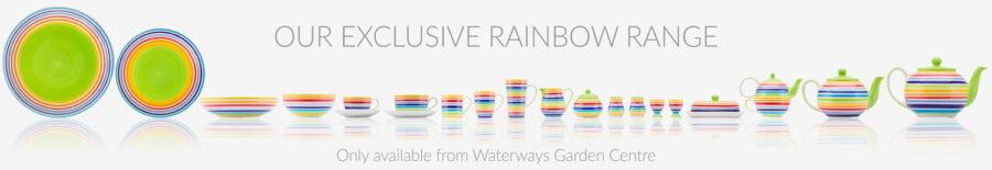 Rainbow ceramic tableware, UK