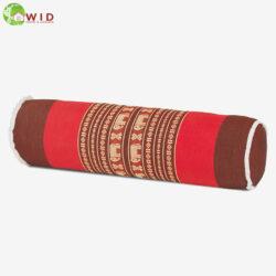 yoga bolster cushion traditional fabric red