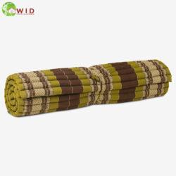 Meditation roll mat large green