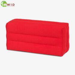 yoga block short red cotton linen UK