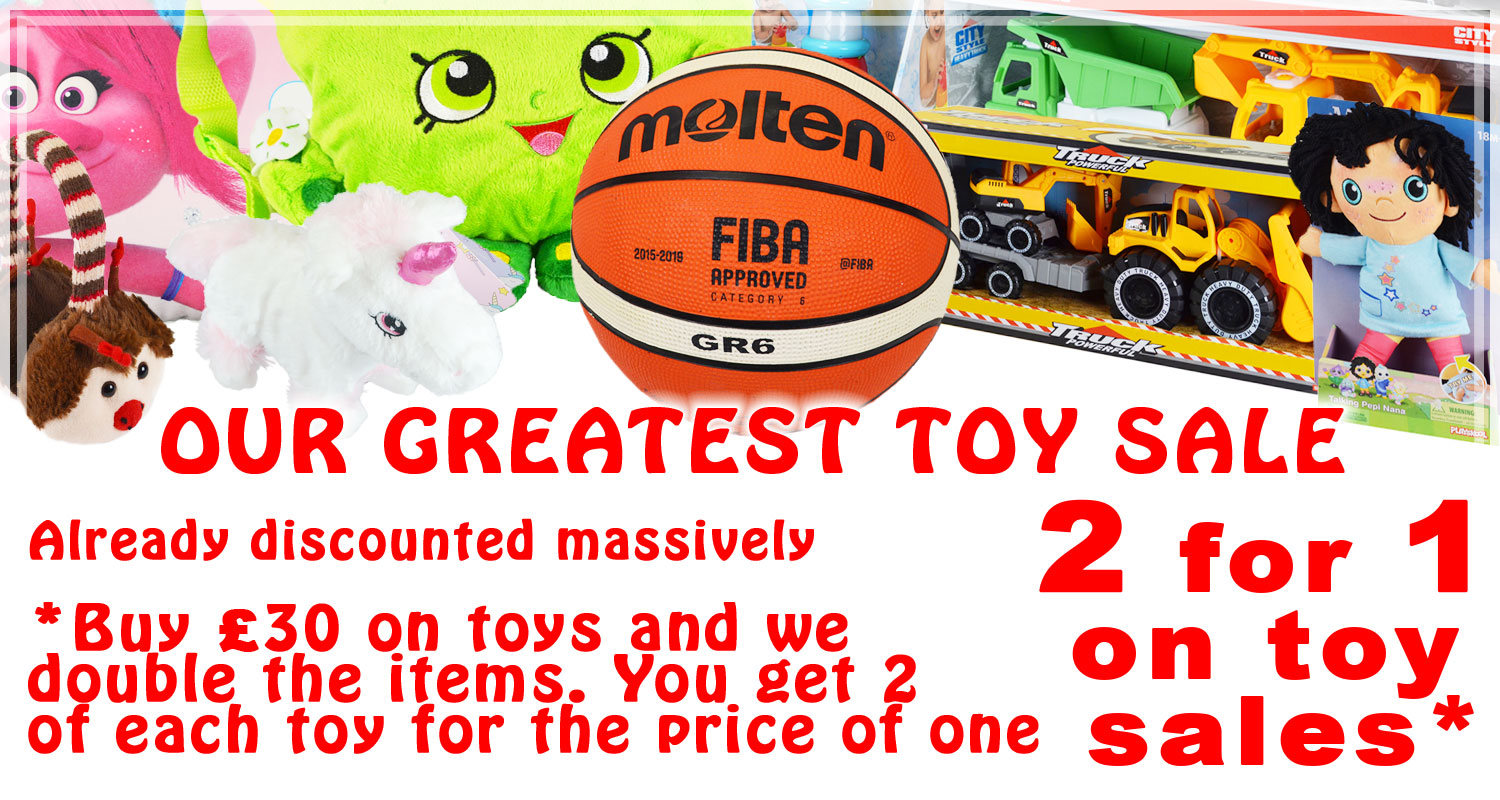 Toy sale from Waterways Garden Centre, UK