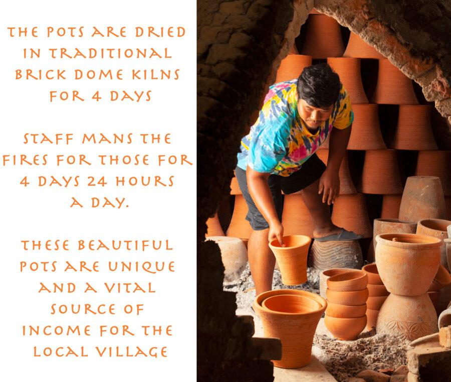 Traditional kiln for garden pots. uk
