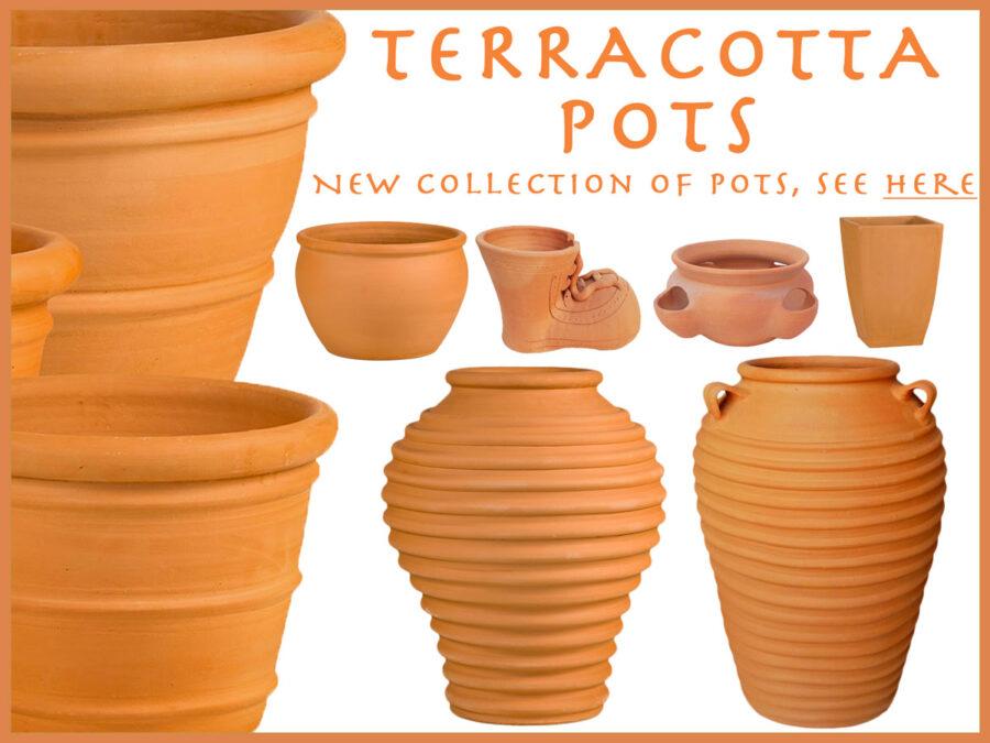 Terrcotta garden pots, UK