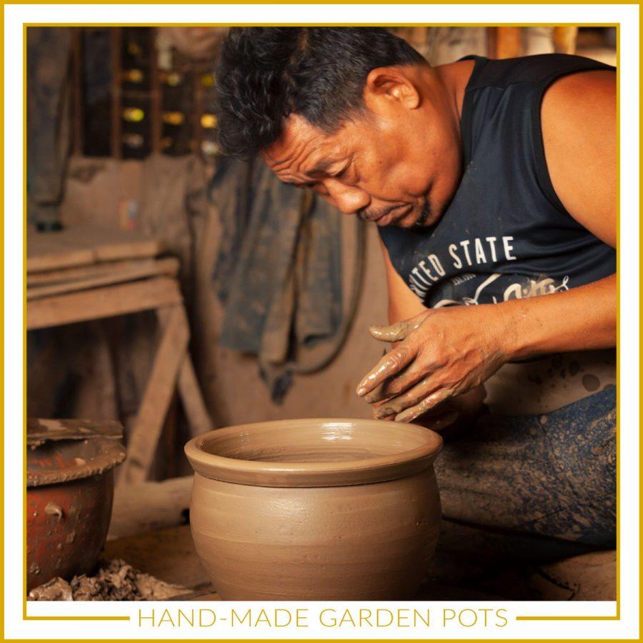 Hand made garden pots. uk