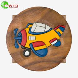 children's wooden stool Aeroplane