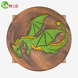 childrens wooden stool dragon