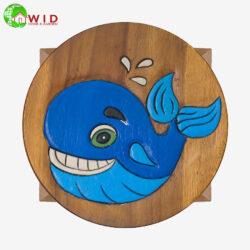 childrens wooden stool whale