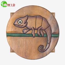 childrens wooden stool chameleon