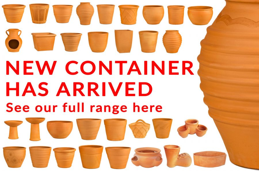 terra-cotta pots have arrived at waterways garden centre