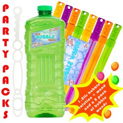 party pack 1.8 ltr bubble soloution with 8 wands uk