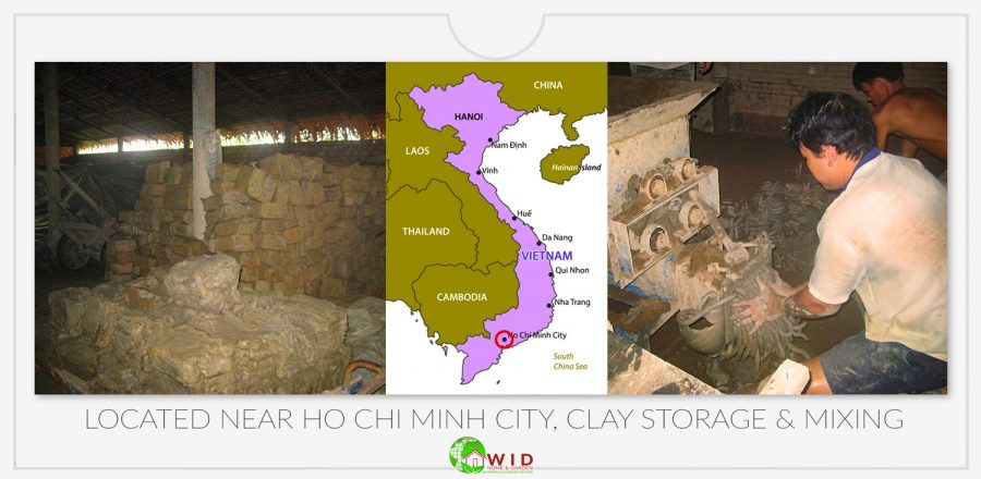 Clay storage and mixing