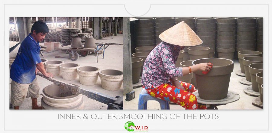 Inner and outer pot smoothing
