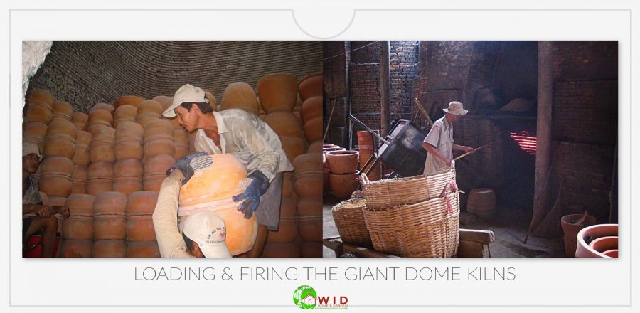 Loading and firing the giant dome kilns