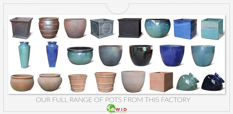 Waterways garden centre garden pots. UK