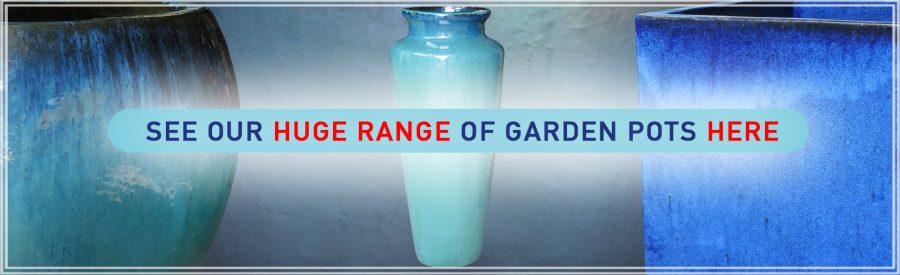 Our glazed garden pots