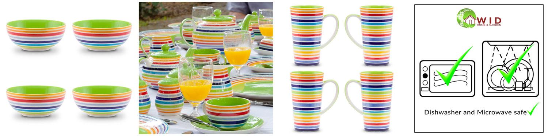 Bright rainbow table items