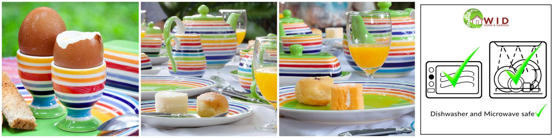Bright rainbow dinnerware sets, UK