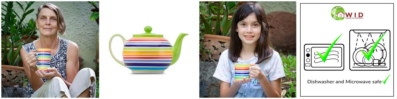 Rainbow cups, mugs, teapots etc. UK